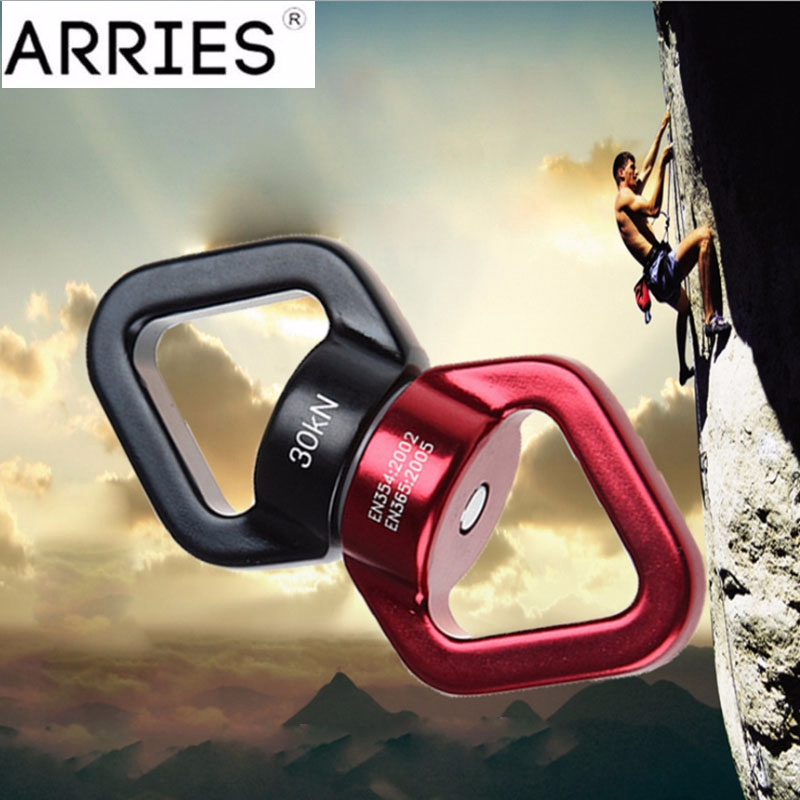 Pro Rock Climbing Carabiner Universal Ring Yoga Swivel Rotary Connector 30kN 360 Rotator Rotational Swing Spinner Rope Connector