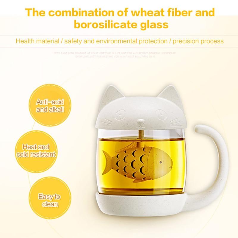 1PC Creative New Tea Strainer Cat Tea Infuser Cup Grasses Mug Teapot Teabags for Tea Coffee