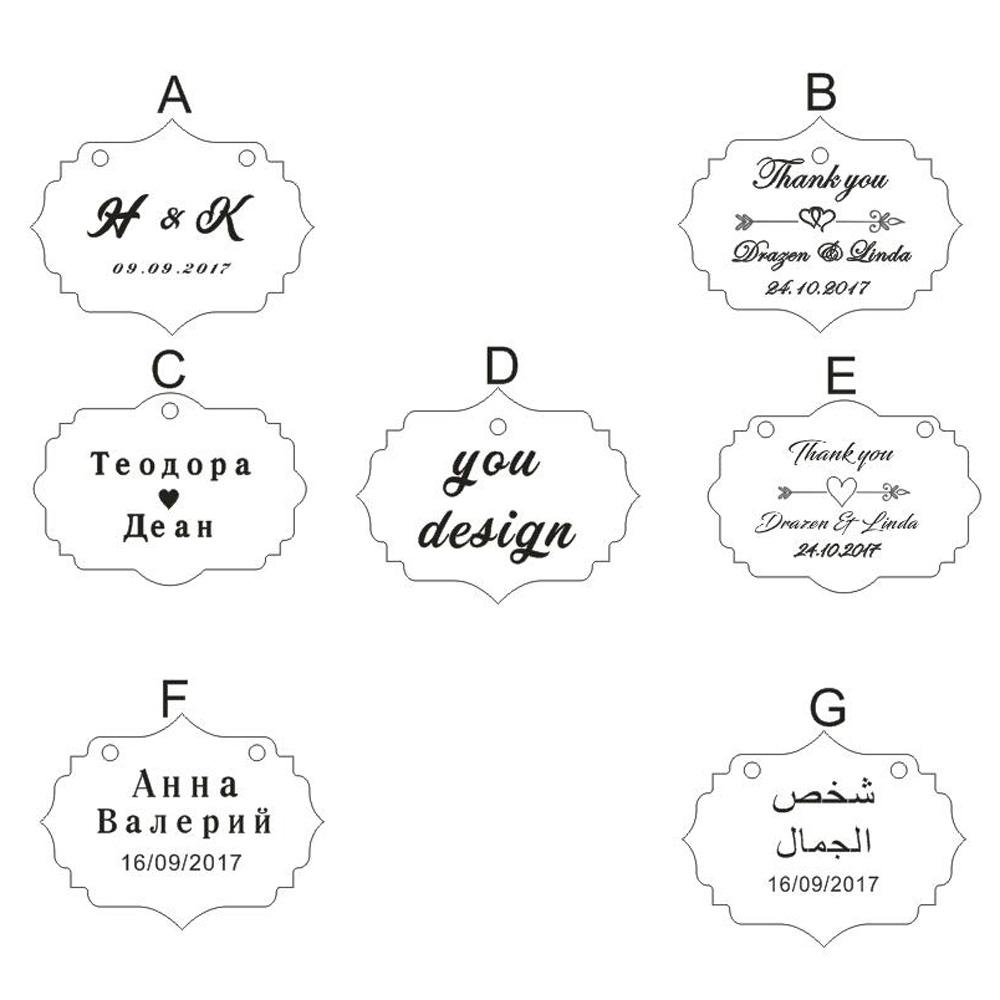 50 Pieces Personalized Engraved Wood Hangs Custom Rustic c Wedding ...