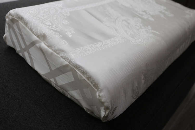 100% Silk Pillowcases Pure Mulberry Silk Double Sided Soft Healthy Satin Silk Jacquard Pillowcase White For Latex Pillow 2pcs