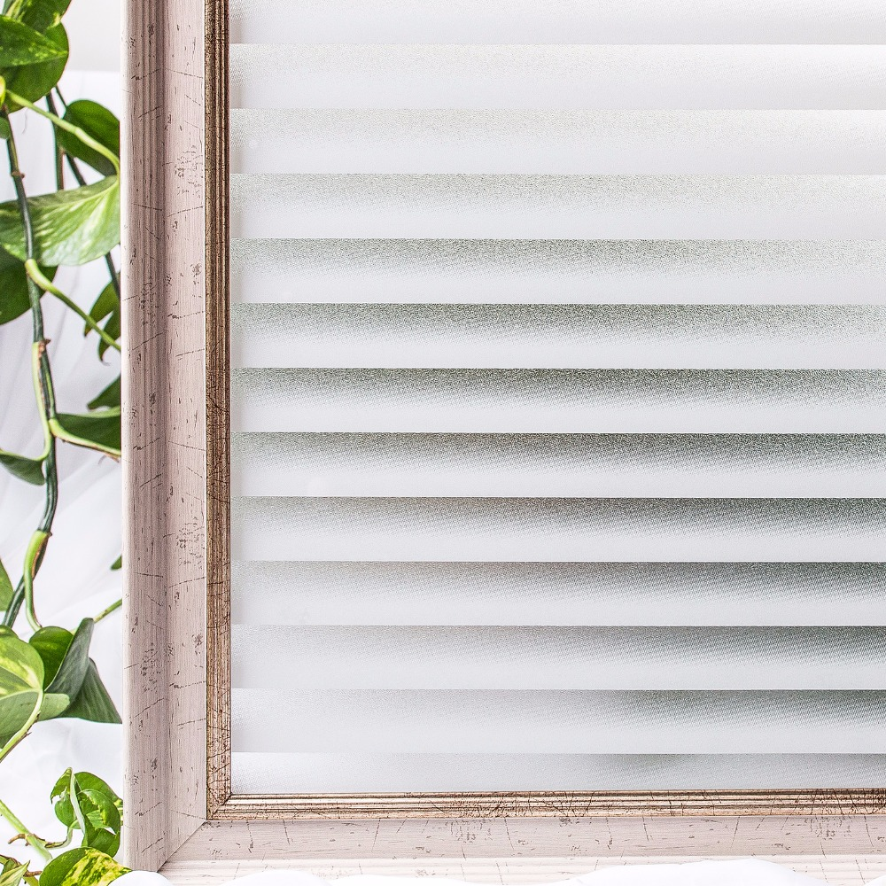 90*200 cm Opaque Blinds patterned Frosted 3D Window Films Static Cling Self adhesive Privacy Glass Stickers