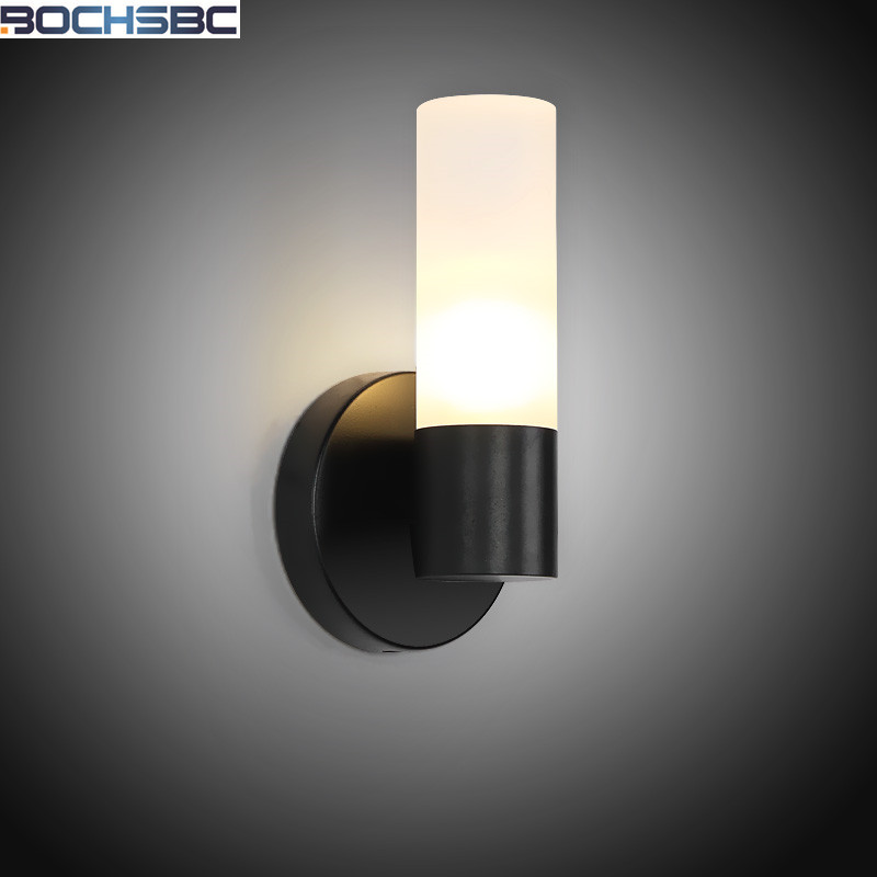 Nordic Iron Wall Sconce Bedroom Bedside Light Vintage Industrial Aisle Wall Light American Black LED Wall Lamp nordic led wall lamp for bedroom industrial wall sconce home led light vintage wall lamp stair decorative led wall light fixture