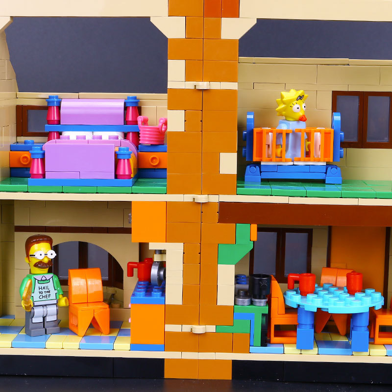 Image 4 - Free shipping DHL 16005 Simpsons House 2575Pcs Model Building Block Bricks Compatible with 71006 Toys Gift for children brithday-in Blocks from Toys & Hobbies
