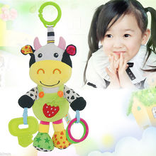 Cute Animal Handbells Developmental Music Stroller Bells Kids Baby Soft Toys Rattle Baby Toy