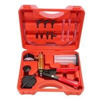 Hand Held DIY Brake Fluid Bleeder Tools Vacuum Pistol Pump Tester Kit Aluminum Pump Body Pressure Vacuum Gauge XL 144