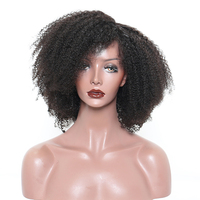 Afro Kinky Curly Lace Front Human Hair Wigs For Women Pre Plucked Black Color Brazilian Hair Wigs 150% Density Remy Prosa
