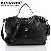 PAMASKIN 2018 Hot Selling Women Shoulder Bags Handbags Premium Real Cow Leather Female Large Capacity Travel