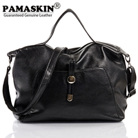 PAMASKIN 2018 Hot Selling Women Shoulder Bags Handbags Premium Real Cow Leather Female Large Capacity Travel