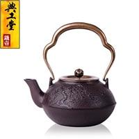 2016 Cast Iron Tea Pot No Coating Japanese Kung Fu Tea Set Handmade Japan Willow Lotus Pot With Filter Hot Sale