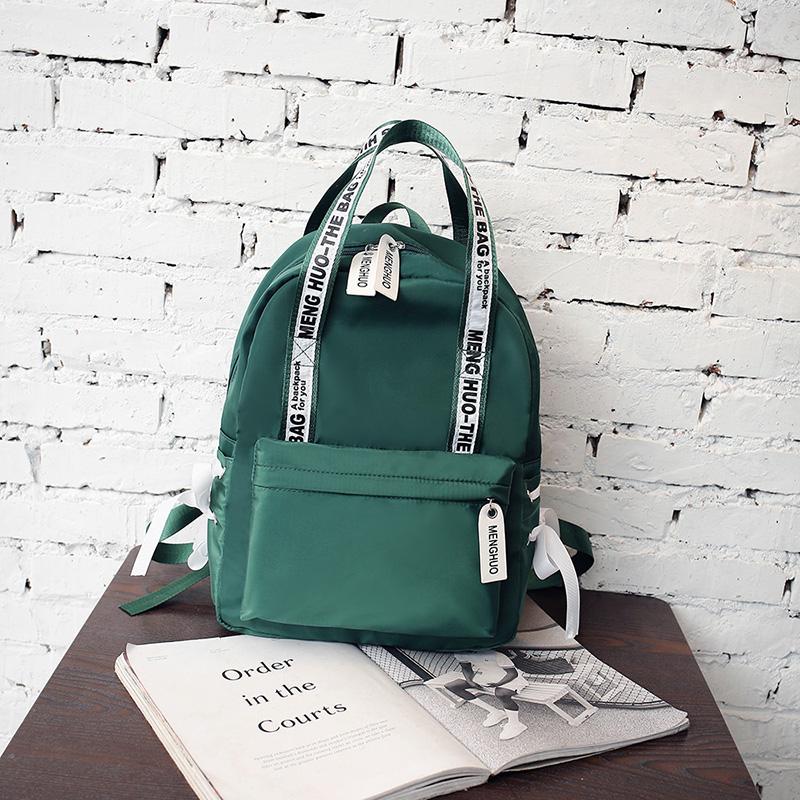 Menghuo Large Capacity Backpack Women Preppy School Bags For Teenagers Female Nylon Travel Bags Girls Bowknot Backpack Mochilas (48)