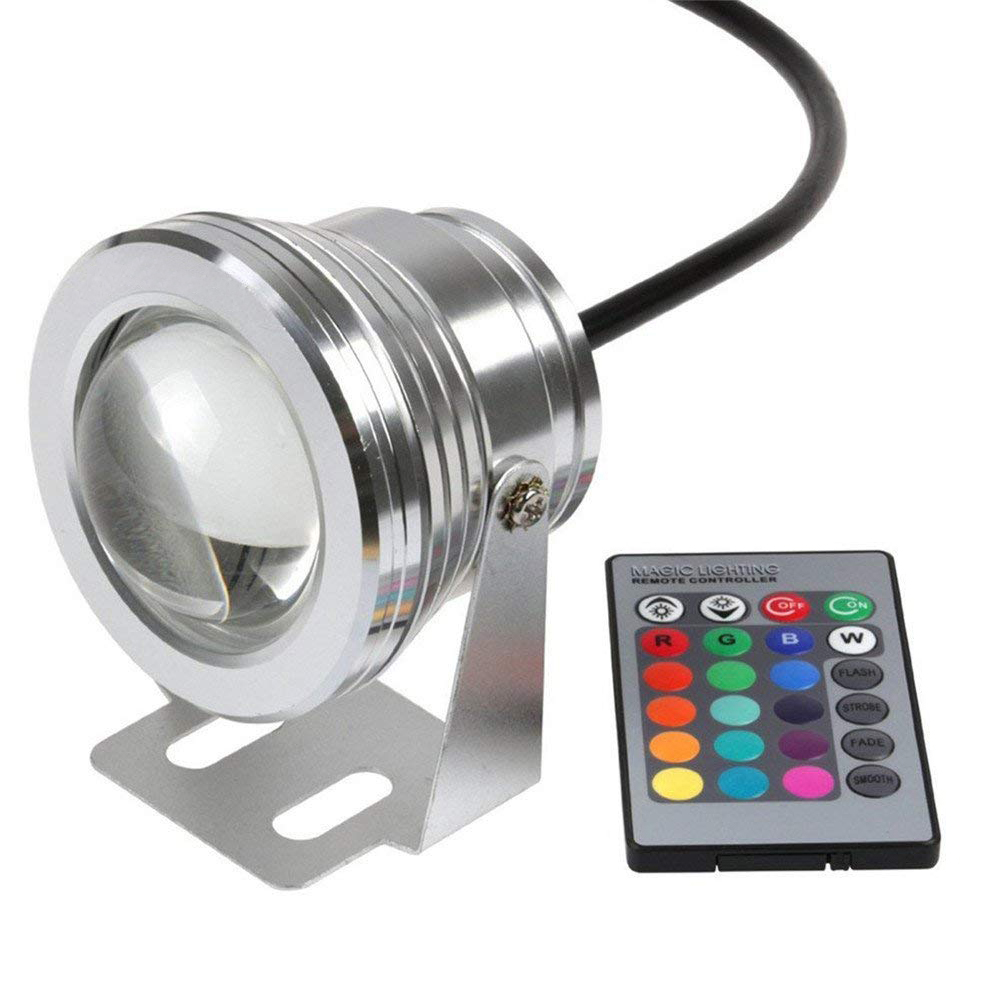 underwater RGB Led Light 110 (lm / w) RGB for swimming pool pond piscina aquarium fountain water colorful lighting under water dancing water speaker w rgb led light for iphone ipad pc mp3 black