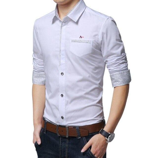 Dudalina Men Shirt Casual Cotton Men Shirt Long Sleeve Printed Shirt Slim Fit Reserved Aramy Solid Color Shirts Camiseta Social