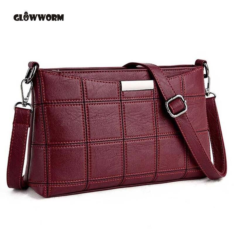 Для женщин Пояса из натуральной кожи плед Курьерские Сумки sac основной Сумки на плечо Для женщин Crossbody сумка женская высокое качество овчины... ...