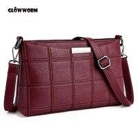 Frauen Echtes Leder Plaid Messenger Taschen Sac ein Haupt Umhängetaschen Frauen Umhängetasche Damen Hohe Qualität Schaffell Handtaschen
