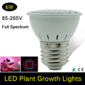 Guaranteed100% New Hydroponics Lighting AC85-265V E27 6W 44Red/16Bule Multiple Colors Leds Plant Grow Lights CE and ROHS