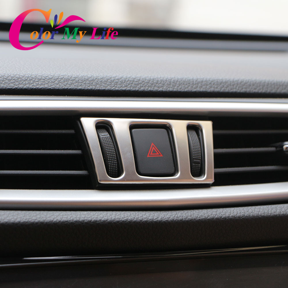 Color My Life Center Console Air Vent Outlet Cover Sticker For Nissan X-Trail Xtrail X Trail T32 2013+ Qashqai J11 2014+ Murano