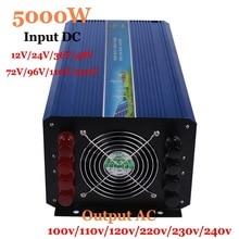 5000w 60/72/96/110VDC inverter ac pure sine wave inverter 5000W to AC100/110/120V or220/230/240V Solar Wind Power Inverter 5000W