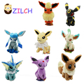8Styles For Choice 6inch - 7inch Cute POKEMON Toy Plush Doll Sitting Best Gift For Kids Free shipping