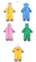 Cute Children Yellow Raincoat Waterproof Kids Baby Boy Girl Raincoat Rain Pants Suit Jumpsuit Rain Poncho Jas Hujan Anak 50yc81