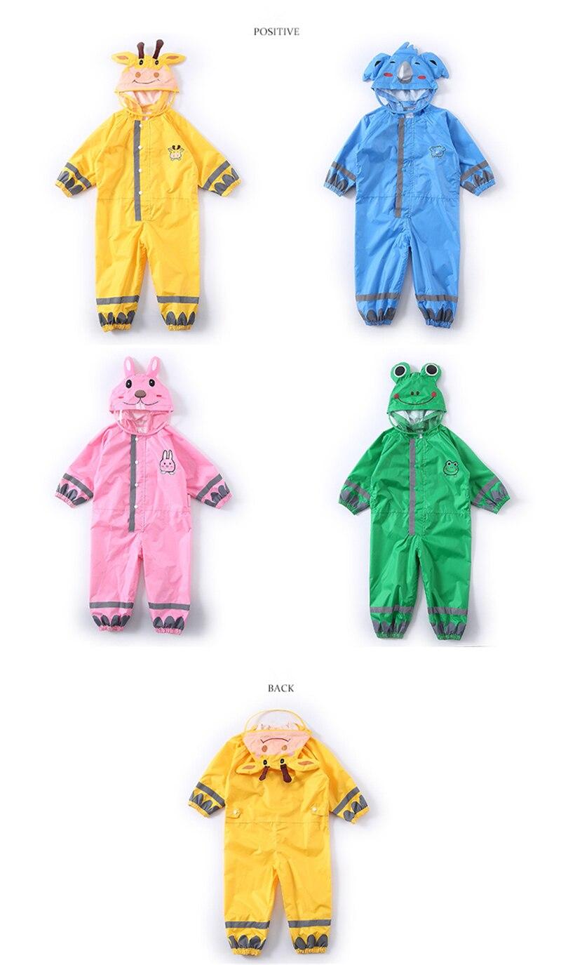 Mignon enfants jaune imperméable enfants bébé garçon fille imperméable pluie pantalon costume combinaison pluie Poncho Jas Hujan Anak 50yc81