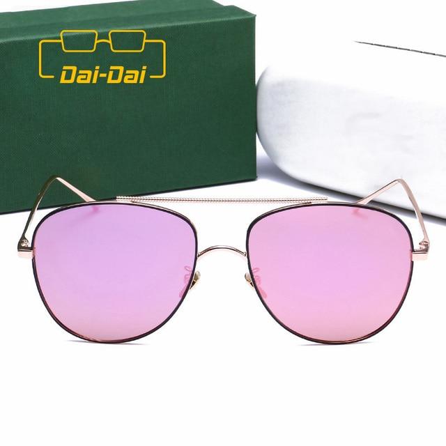 773643ec7 Francês Famosa Marca Designer Óculos de Aviador óculos de Sol Ponte Dupla  Estilo Britânico Do Vintage