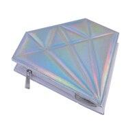 10pcs Thread Rainbow Handle Unicorn Makeup Brushes Diamond Bag Cosmetics Foundation Blending Blush Make Up Organizer