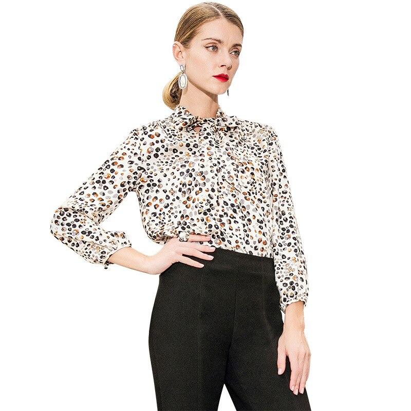 KAMIYING 2019 Trend Neue Frauen Hemd Schmetterling Kragen Temperament OL Stil Dünne Marke Leopard Print Casual Print Damen Hemd - 5