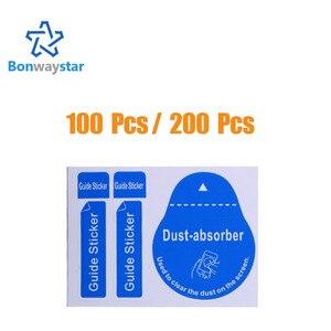 100 шт/200 шт для объектива камеры оптический ЖК-экран очиститель для iPhone 8 7 6 6s Удаление бумаги пыли стикер-абсорбер