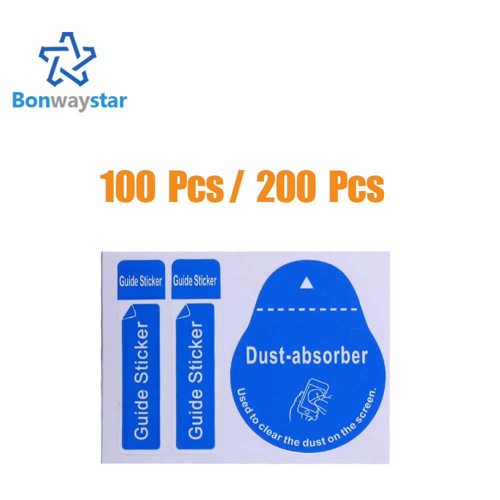 100 PCS / 200 PCS for Camera Lens Optical LCD Screen Cleaner for iPhone 8 7 6 6s Removal Paper Dust Absorber Sticker