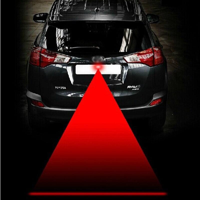 LEEPEE samochodowe laserowe światło przeciwmgielne tylne antykolizyjne sygnał bezpieczeństwa jazdy czerwona lampka ostrzegawcza światła parkingowe hamulca akcesoria samochodowe