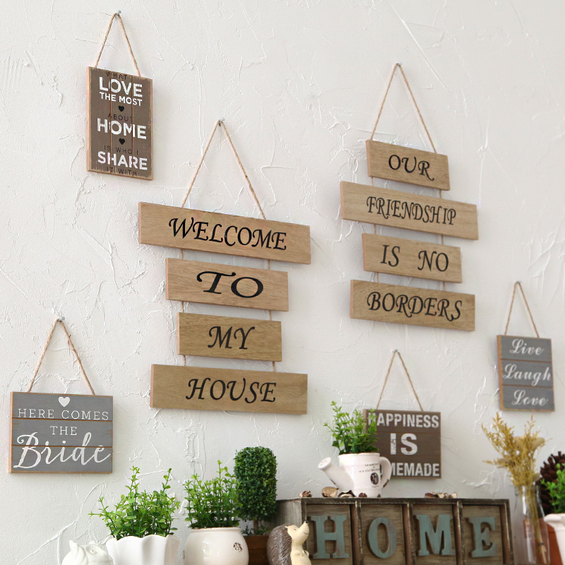 Creative household adornment wall hanging plaque sign for Sign decoration