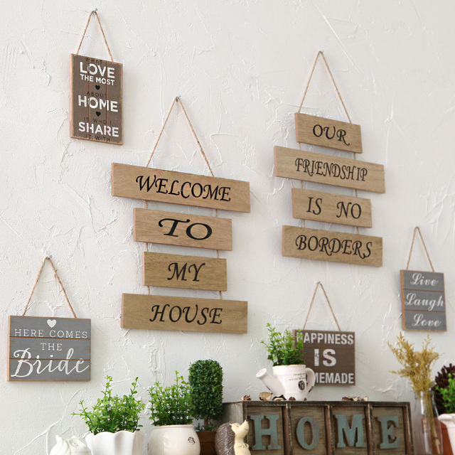 Creative Household Adornment Wall Hanging Plaque Sign Decor Home Garden  Wood Crafts Decoration For Restaurant Bar