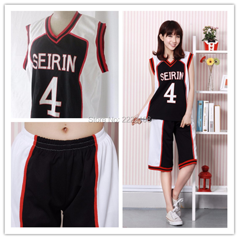 цены Hot Kuroko No Basuke SEIRIN #4 7 10 11 Kuroko Tetsuya White Black School Team Jerseys Uniform Kuroko no Basuke Cosplay Costumes