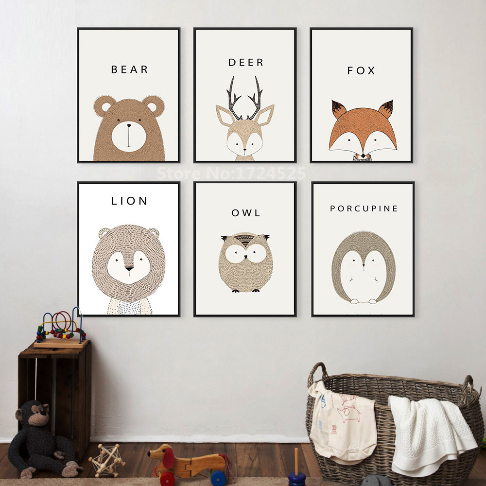 2017 real sale animal deer for lion bear minimalist art - Home interior deer pictures for sale ...