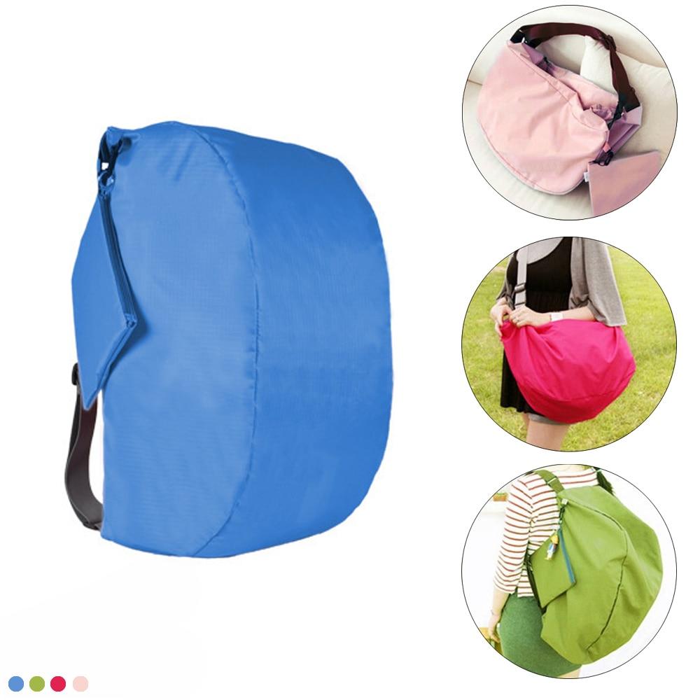 Mochila de poliéster plegable de múltiples funciones al aire libre para acampar senderismo bolsa de viaje bolsa de hombro bolsa de mensajero