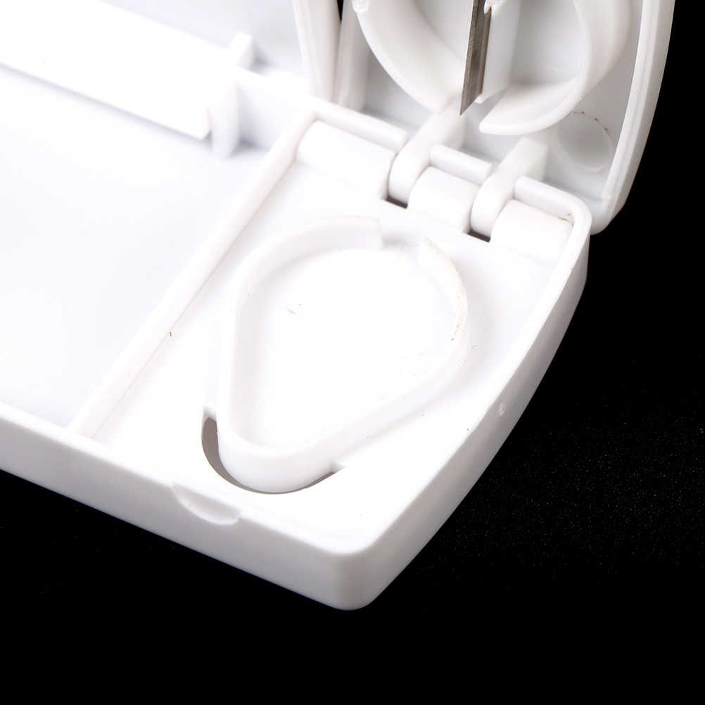 1pc プラスチックピルケーススプリッタスマート旅行医学カッターオーガナイザーコンテナ分周器丸薬収納ボックスタブレット新