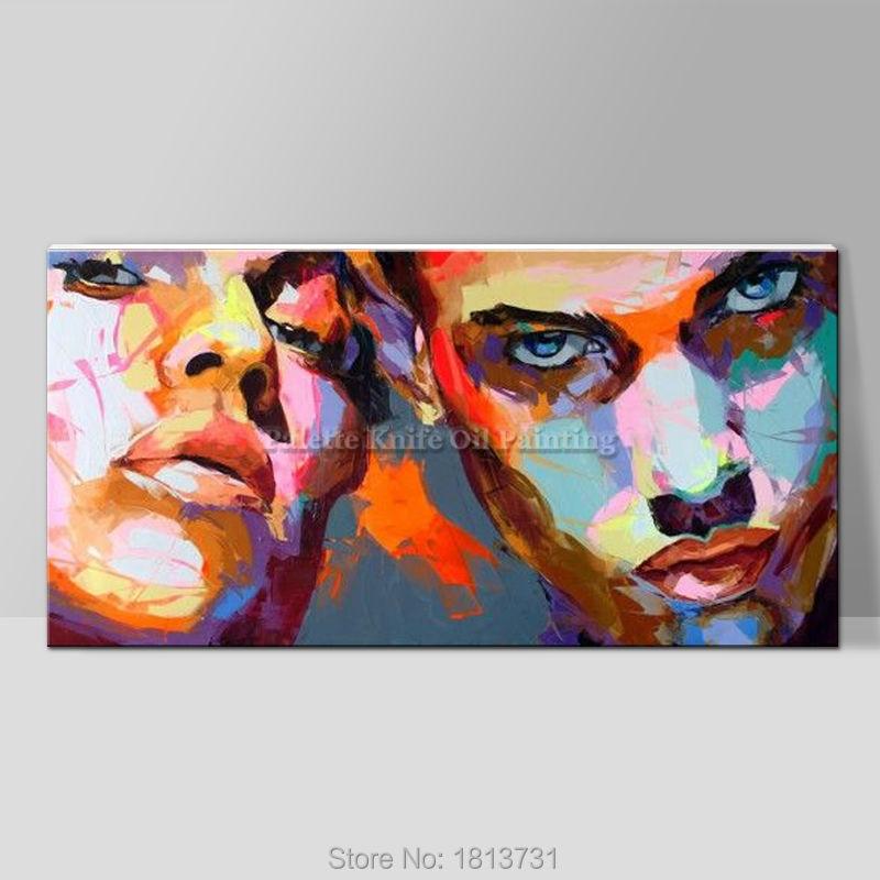 Portret szpachlą szpachlą Malowanie szpachlą Obraz olejny do - Wystrój domu - Zdjęcie 4