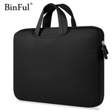 BinFul laptop bag 11 12 13 14 15 15.6 Sleeve case cover for Dell Lenovo HP Samsung Asus Toshiba Surface Pro Ultrabook Notebook(China)
