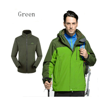 Free Shipping Winter New Fashion Men's Waterproof Coat+Bladder+Hoodie Clothes Jacket 2Pcs