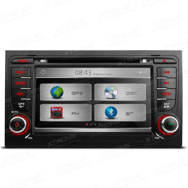 XTRONS 7 Inch 2 din car audio HD Touch Screen stereo DVD Player With GPS Navigation Canbus For Audi A4 image