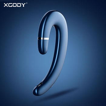 XGODY ET2 Wireless Bluetooth Earphones Bone Conduction Business Hands-free Wireless Headphone With Mic Earhook For iphone xiaomi