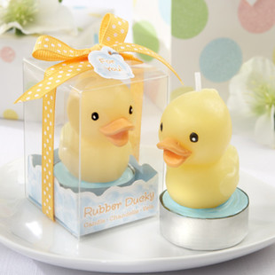 Baby Shower Party Cute Candle  Rubber Duck Candle Baby Shower Favors  Birthday Gifts For