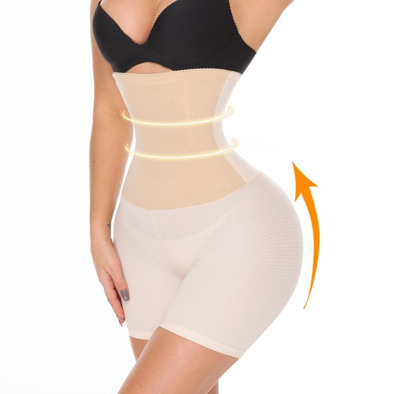 NINGMI Sexy Butt Lifter for Women Bodysuit Hi Waist Trainer Tummy Control Panties Slimming Underwear Body Shaper Short Shapewear