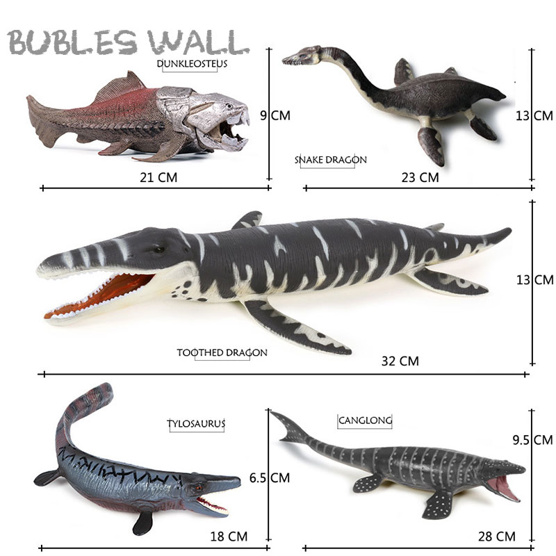 Ancient Sea Life Savage Dunkleosteus Terrelli Fish Animal Action Figure Prehistoric Dinosaure Liopleurodon Mosasaurus Model Toy