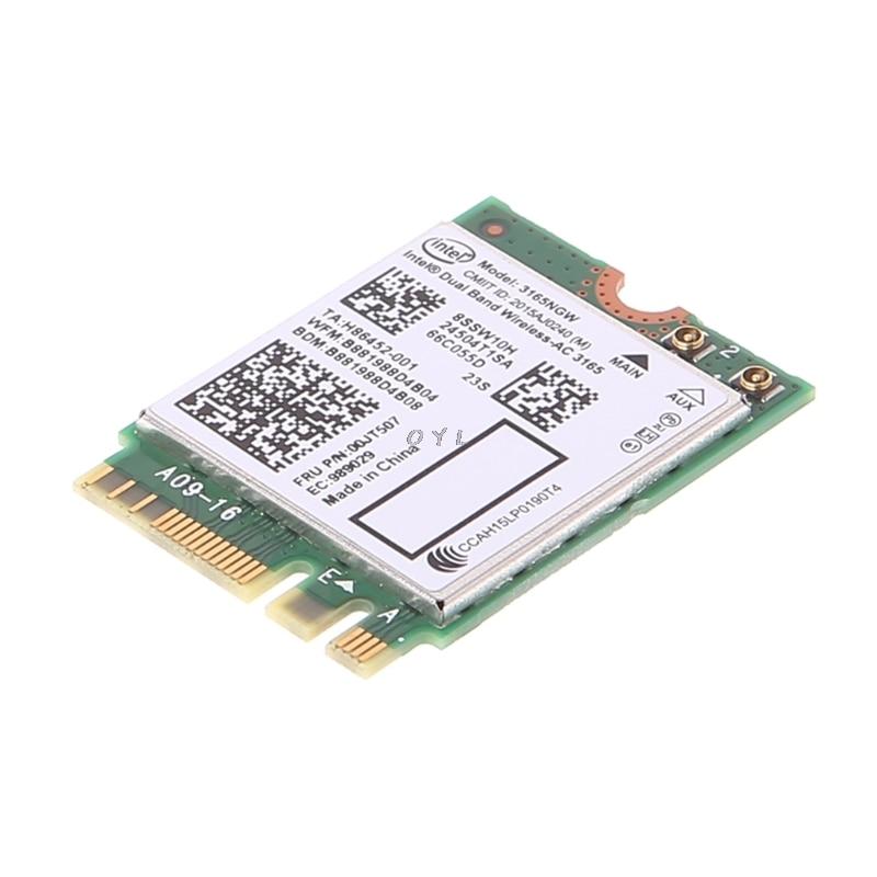 Intel Dual Band Bluetooth Wireless-AC 3165 BT4.0 2.4G/5G 433M Next Generation Form Factor NGW Net Card 2