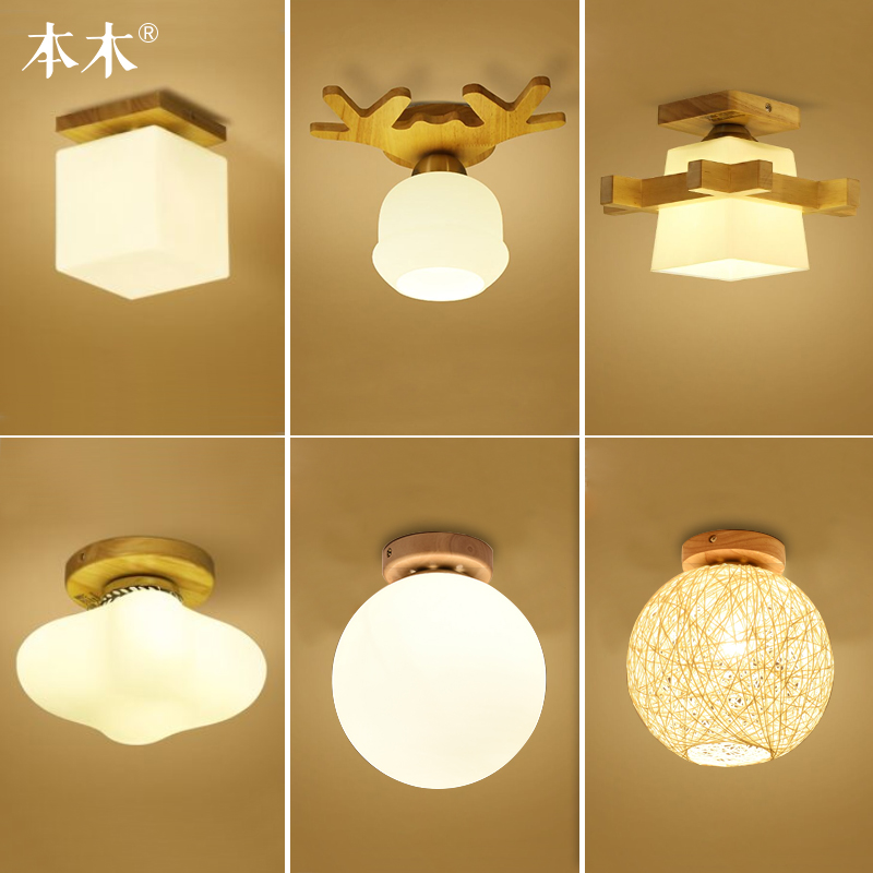 Japanese style solid wood ceiling light entrance hallway balcony  bedroom lamp japanese style tatami floor lamp aisle lights entrance corridor lights wood ceiling fixtures tatami wood ceiling aisle promotion