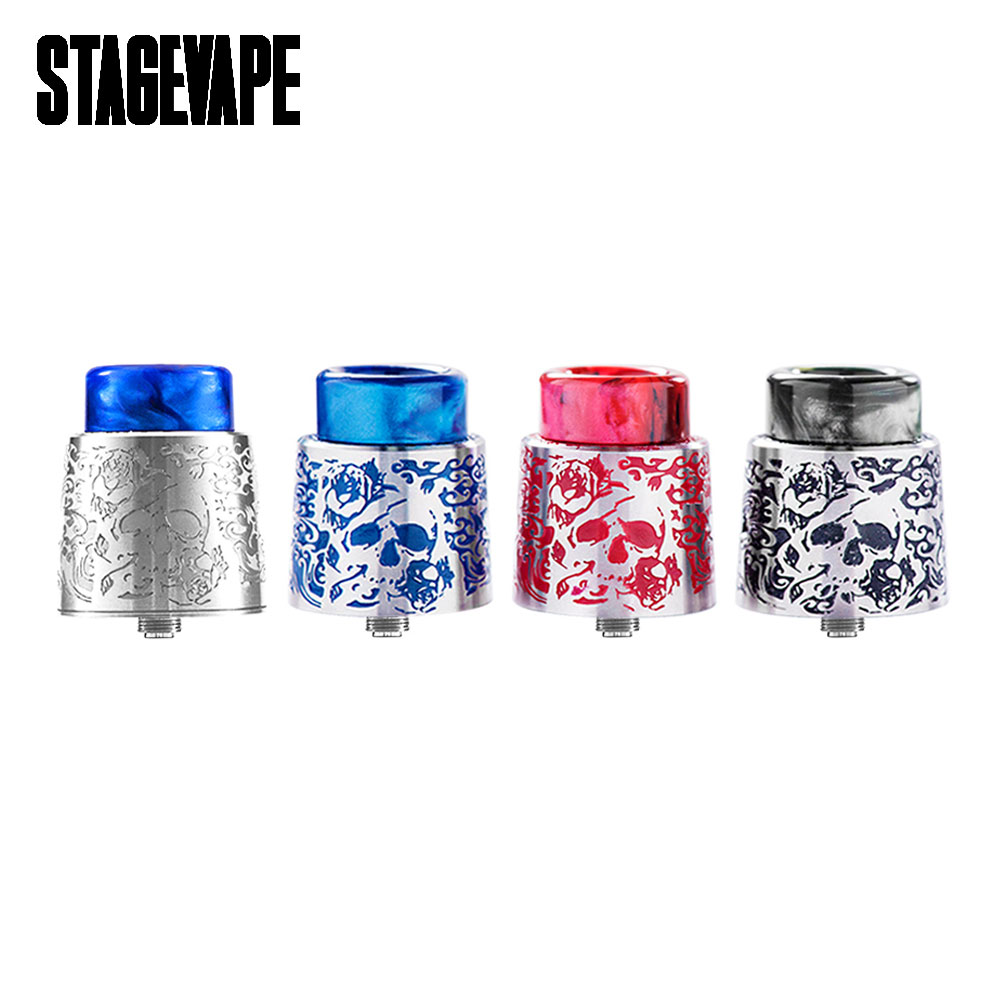 New Original StageVape Venus RDA Tank with 24mm Diameter & 810 Resin Drip Tip & BF Pin for Bottom Feeding Squonk MODs Vape Tank