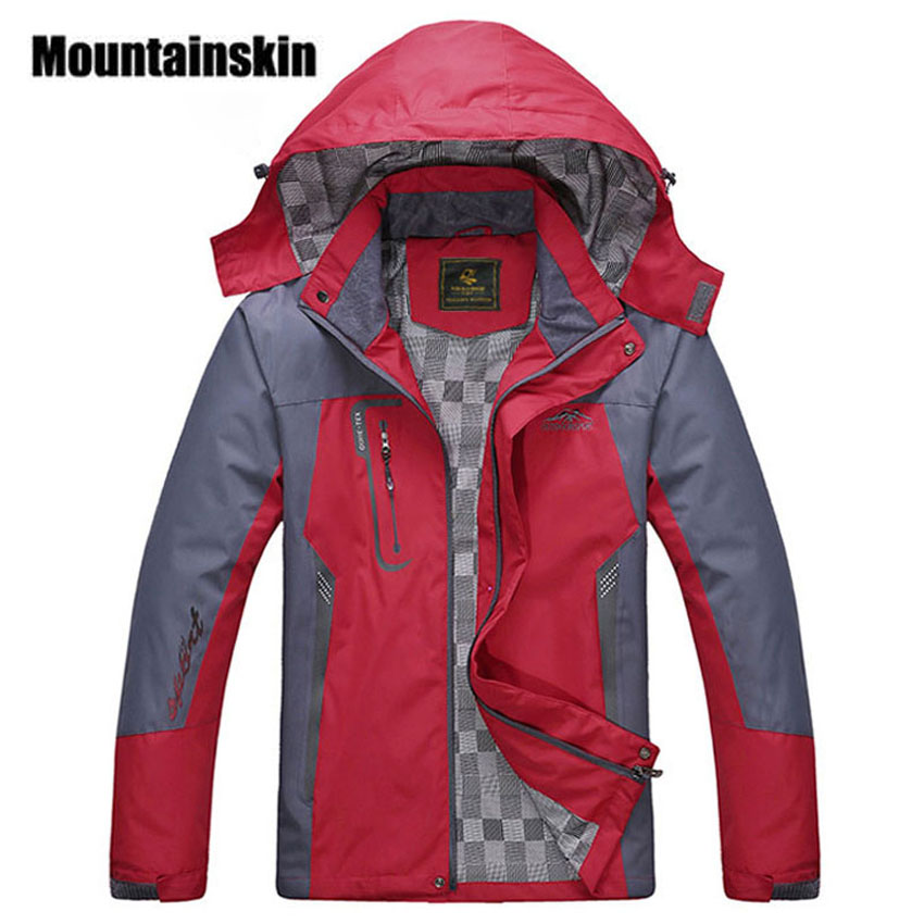 2018 New Men s Waterproof Windpoof Jackets Men Spring Autumn Jacket Coats Male Brand Clothing Plus