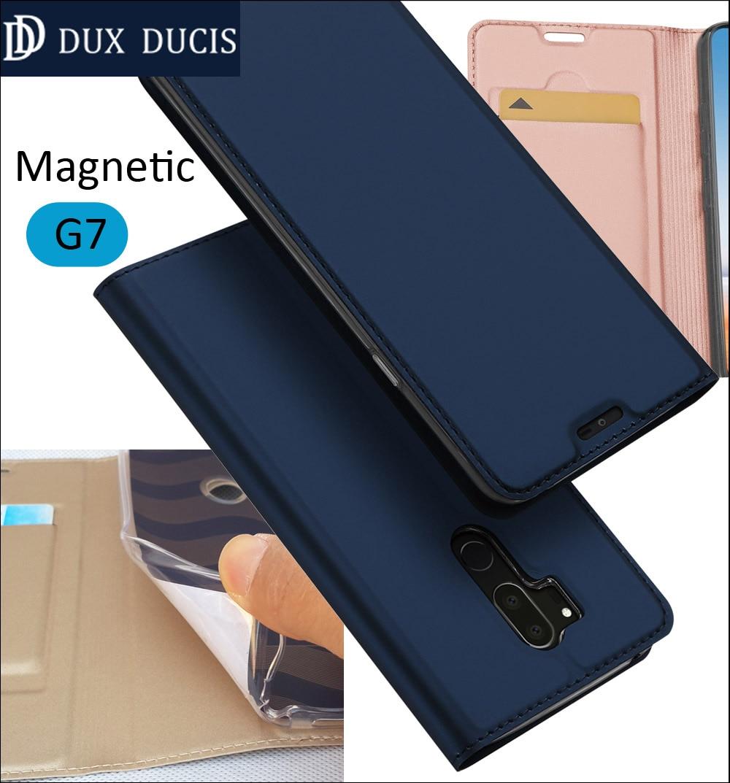Original DUX DUCIS Case Cover For LG G7 Book Flip Leather Wallet Coque