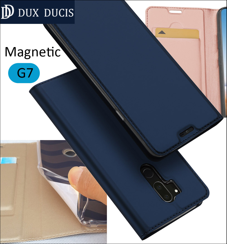 Original DUX DUCIS Case Cover For LG G7 Book Flip Leather Wallet Magnetic